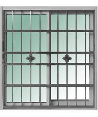 RAKANGTHONG หน้าต่างอลูมิเนียมบานเลื่อน  120x110cm. พร้อมสแตนเลสดัด  WINKING  SS  สีขาว