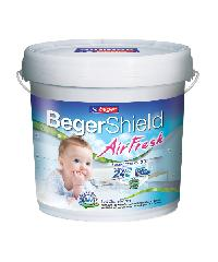 Beger สีน้ำภายในด้าน แอร์เฟรช เบส A ถัง. BEGER SHIELD AIR FRESH Matt สีขาว