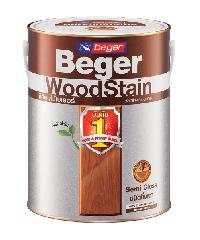 Beger Wood Stain S-2907 1gl.สีเขียว กล. สีย้อมไม้ชนิดกึ่งเงา วูดสเตน S-2907 (GREEN/สีเขียว) กล.