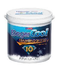 Beger สีน้ำอะครีลิคเบเยอร์คูล ไดมอนด์ชิลด์ 10 ปี ชนิดกึ่งเงา เบส D กล. Beger Cool Daimond Shield 10Y SG Base D gl. สีขาว