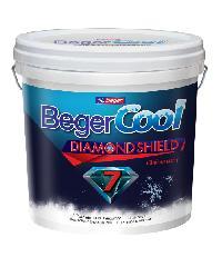 Beger สีน้ำอะครีลิคเบเยอร์คูล ไดมอนด์ชิลด์ 7 ปี ภายนอก เบส D กล. สีขาว
