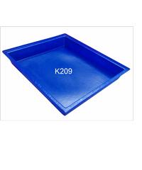 ฉลาม S&P ถาดสีเหลี่ยมขนาดกลาง 30 ลิตร.สีน้ำเงิน K209 น้ำเงิน