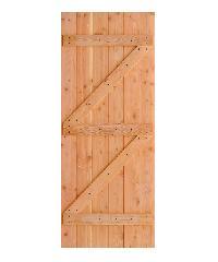 D2D  ประตูไม้ดักลาสเฟอร์ บานทึบทำร่อง  ECO PINE-99 110x200ซม.