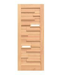 D2D ประตูไม้ดักลาสเฟอร์Eco Pine-034 Plus  90 x 210 cm. -