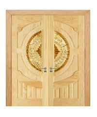 D2D ประตูไม้สนนิวซีแลนด์ SET 2 D2D-417 90x200cm. SET 2 D2D - 417