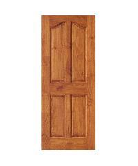 D2D ประตูไม้สนนิวซีแลนด์ สีเชสนัท ขนาด 80 x 200 cm. Eco Ezero9 เชสนัท