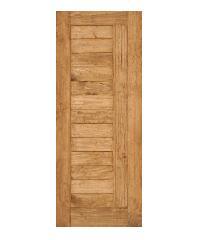 D2D ประตูไม้สนNz บานทึบทำร่อง 100 x 200cm.  D2D-511 สีเชสนัท