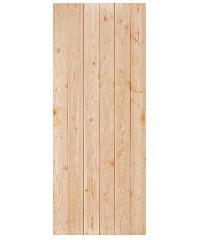 D2D ประตูไม้ดักลาสเฟอร์ บานทึบทำร่อง 90 x 200cm. D2D Eco Pine-060