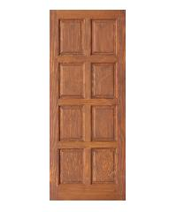 D2D ประตูไม้ดักลาสเฟอร์ บานทึบ 8ฟัก  Eco Ezero-15 90x200cm. สีเบรินแอช