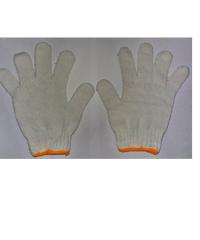 แสงเจริญ ถุงมือทอ cotton ถุงมือ สีขาว 7 ขีด ขาว