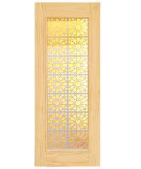 D2D ประตูไม้สนนิวซีแลนด์ ขนาด  90x220 ซม. D2D-601