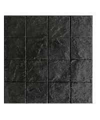 DURA ซีเมนต์ตกแต่งพื้น 40x40x3.5 ลายคอบเบิล 2 DURAONE Stamp Pave สีดำ