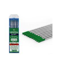 LONG WELL Tungsten Green ลวดเชื่อมทังสเตน  Longwell  สีเขียว 2.4 mm.  Tungsten Green  2.4 mm.