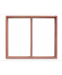 อุดรเก้าเจริญทรัพย์ วงกบหน้าต่างไม้ 2ช่อง 60x100 -