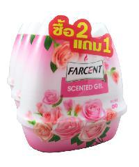 Farcent เซ็นท์เต็ดเจล  200กรัม กลิ่นกุหลาบ(2แถม1/แพ็ค) AA12513 P สีชมพู