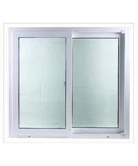 Wellington หน้าต่างบานเลื่อนคู่ UPVC - มุ้ง ขนาด 100 X 110 cm.  - ขาว