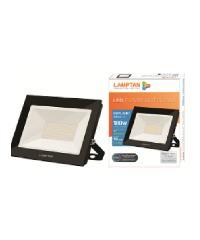 LAMPTAN โคมไฟลแอลอีดีฟลัทไลท์  Gloss 100w แสงเดย์ไลท์ สีดำ