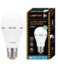 LAMPTAN หลอดไฟฉุกเฉินแอลอีดี 6 วัตต์ แสงเดย์ไลท์ Emergency bulb สีขาว