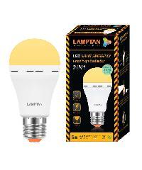 LAMPTAN หลอดไฟฉุกเฉินแอลอีดี 6 วัตต์ แสงวอร์มไวท์ Emergency bulb สีขาว