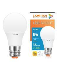 LAMPTAN หลอดไฟแอลอีดีบับ ไบรท์ 6 วัตต์ แสงเดย์ไลท์ Bright สีขาว