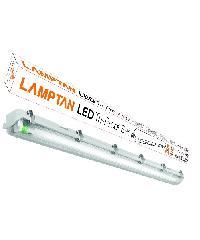 LAMPTAN ชุดเซ็ทโคม LED เดย์ไลท์กันนั้ำขั้วเขียว  TRI PROOF1X18W