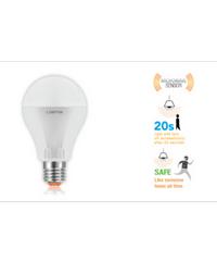 LAMPTAN หลอดLED Motion Sensor 7W  (ไมโครเวฟ) P.10 วอร์มไวท์