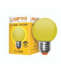 LAMPTAN หลอดแอลอีดี บอลคัลเลอร์ 1วัตต์ (สีเหลือง) LED ball colour