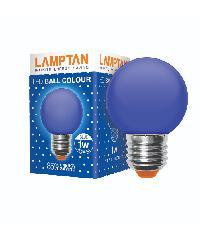 LAMPTAN หลอดแอลอีดี บอลคัลเลอร์ 1วัตต์  LED ball colour  สีน้ำเงิน