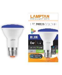 LAMPTAN หลอดLED 6w (IP65) PAR20 สีน้ำเงิน P.10