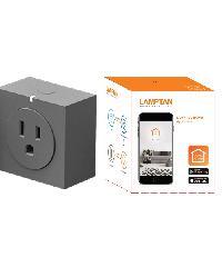 LAMPTAN ปลั๊กสมาร์ทวายฟายชอคเกท Smart wifi scoket สีเทา