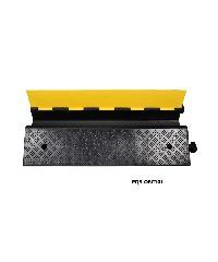 Protx ยางป้องกันสายไฟ 1 ช่อง 100x58x12Cm.  สีดำ-หลือง  PQS-OBC101