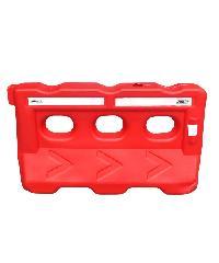 Protx แผงพลาสติกจราจร บรรจุน้ำได้ 300kg  ขนาด 136x35x75cm  WB-RD6 สีแดง