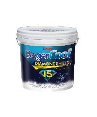 Beger สีน้ำอะครีลิคเบเยอร์คูล ไดมอนด์ชิลด์ 15 ปี ชนิดกึ่งเงา เบส A ถัง สีขาว