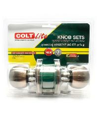 COLT ลูกบิดประตู COLT LITE #A68717 AC รุ่นแผง (ฝาใหญ่) - สีน้ำตาลอ่อน