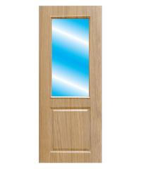 BWOOD ประตู VINYL บานกระจก  80x200 (เจาะ) Masterwood LMG004 TAN MAPLE