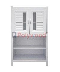 Polywood ตู้กับข้าว 2.0 ชั้น (1 ตู้คู่ - 1 ชั้นวาง) M-Series Model 2-B สีขาว