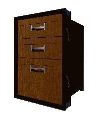 Polywood ตู้ลิ้นชัก 3 ชั้น ขนาด 45.5x65.5x50 cm.  M-SERIES Nature สีโอ๊ค