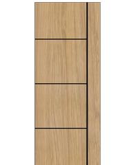 BWOOD ประตู VINYL 80x200 (เจาะ) Masterwood LMNM03 TAN MAPLE