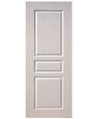 BWOOD ประตู VINYL 80x200 (เจาะ) Eco-Series BEN002 สีขาว