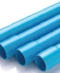 "Power Plus ท่อพีวีซี(8.5) 1"" บานหัว บานหัว สีฟ้า"