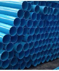 "Power Plus ท่อพีวีซี(8.5) 4"" ปลายเรียบ สีฟ้า"