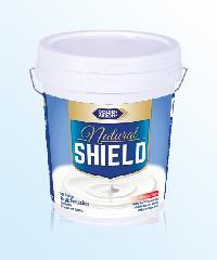 NATURAL SHIELD สีน้ำอะคริลิคแท้ 100% ซุปเปอร์พรีเมียมเกรด (ชนิดกึ่งเงา) สำหรับทาภายนอกและภายใน N5107 สีเทา