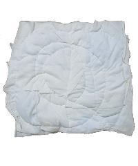 ผ้าเย็บวน ทำความสะอาด ขนาด 10นิ้ว x 10นิ้ว น้ำหนัก 1 กิโลกรัม   สีขาว