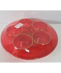 ศรัทธาธรรม ถ้วยน้ำชาพลาสติกแบบกลมตั้งศาล - สีแดง