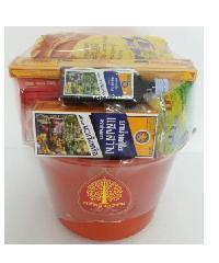 ศรัทธาธรรม ชุดสังฆทาน ถังพลาสติก 1.5 ลิตร สีส้ม