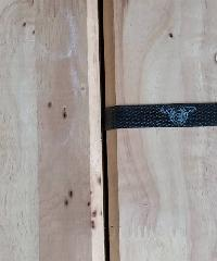 GREAT WOOD ฝ้าระแนงไม้ยางพาราจ๊อยส์(1x5ตัว) RB 1/2x4x1.50 ม.CC