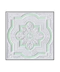 VGB ฝ้ายิปซั่มลาย ขนาด 60x60 ซม.  S009 ขาว-เขียว A.วิคตอรี่