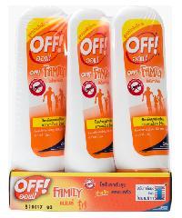 oFF โลชั่นทากันยุง สำหรับครอบครัว 50 มล. (แพ็ค 3) familycare Lotion ส้ม