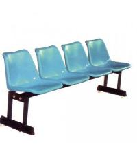 SBL เก้าอี้แถว 4 ที่นั่ง ขาคู่ สีฟ้า