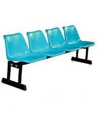 SBL เก้าอี้แถว 4 ที่นั่งขาคู่ สีเขียวบางจาก เก้าอี้แถว 4 ที่นั่งขาคู่ สีเขียวบจ. สีเขียว